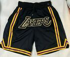 Black Los Angeles Lakers shorts all sizes USA