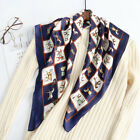 Fashion Silk scarf Letter D Print Designer Inspired Square Head Scarf Hairband