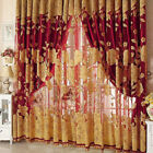 Flower Pattern Voile Curtains Living Room Window Curtain Tulle Sheer Curtains US