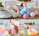 20 Led Globe Garland Cotton Ball String Fairy Lights Wedding Home Party Decor Uk