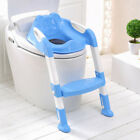 Baby Child Potty Toilet Trainer Seat Step Stool Ladder Adjustable Training Chair image