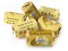Personalised Mini Love Heart Sweets for Golden Anniversary-Gold Foils-V1