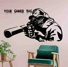 Video Game Sniper Personalised Name Or Gamertag Vinyl Sticker Decal - Decor Wall