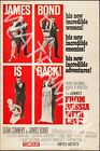 From Russia With Love - 1963 Sean Connery - James Bond Movie Poster $44.95 AUD on eBay