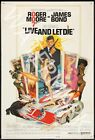 Live And Let Die - 1973 Roger Moore - James Bond Movie Poster $24.95 AUD on eBay
