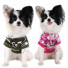 Cute Dogs Camouflage Hoodie Puppy Cat Coat Pets Sweater Clothing Apparel Tshirt