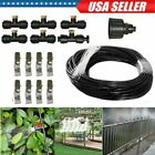 19.6ft Water Mister Mist Nozzles Misting Cooling System Fan Cooler Patio Garden