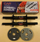 """CAP Standard 1"""" Dumbbell Handles  2.5 lb Weight Plates Choose Type /or Size"""