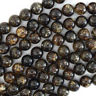 "Natural Genuine Golden Phlogopite Round Beads 15.5"" Strand 4mm 6mm 8mm 10mm 12mm"