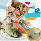 Interactive Pet Cat Kitty Toy Realistic Plush Fish Stuffed Catnip Teaser Gifts