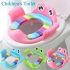Baby Toilet Trainer Cute Safe Handles Kids Toddler Potty Seat Pads Cover Cushion