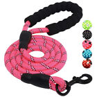 Nylon Service Dog Rope Leash Training Padded Handle Reflective Attach to Harness