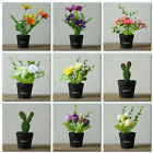 Artificial Plants Bonsai Fake Flowers Tree Plant In Pot Home Hotel Garden Decor