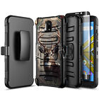 For Blu Wiko Ride Case Holster Belt Clip Phone Cover + Glass Screen Protector