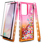 For Samsung Galaxy Note 20 Ultra Liquid Glitter Phone Case With Screen Protector