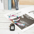 Tassel Big Circle Faux Leather Wristlet Keychain Bracelet Key Ring Holder NTH