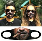 NEW BEARDED CIGAR FACE FUNNY MASK CLOTH COVER REUSABLE WASHABLE 3D PRINT US FAST
