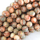 "Natural Red Spider Web Jasper Round Beads 15"" Strand 4mm 6mm 8mm 10mm 12mm"
