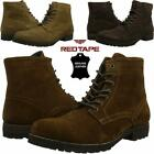 Mens Leather Boots New Smart Formal Chukka Combat Lace Up Ankle Boots Shoes Size