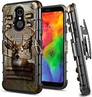 For LG Q7 / Q7 Plus Case Armor Belt Clip Holster Phone Cover With Kickstand
