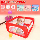 Baby Playpen Fence Play Yard For Children Kids Safety Barrier Game House w/ Gate