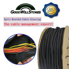 1/4'' - 1'' Cord Protect - Self Wrap Braided Cable Sleeve Wiring Harness Lot