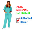 Kyпить Women's Medical Scrub Very Comfortable SET Top and Bottom - FREE & FAST SHIPPING на еВаy.соm
