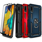 For Samsung Galaxy A01 Case, Ring Holder Stand Cover + Tempered Glass Protector