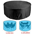 Large Round Waterproof Furniture Cover Outdoor Garden Patio Table Chair Covers