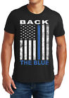 Thin Blue Line USA Flag T-Shirt, Patriotic Police Support Law Enforcement Shirt