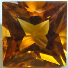 Natural Citrine Square Princess, Trillion Faceted Loose Gemstones Fine Cut AAA