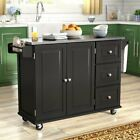 Kuhnhenn Kitchen Cart with Stainless Steel Top