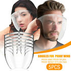 5PC Clear Full Cover Face Shield Glasses Safety Protector Reusable Anti-fog