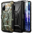 For Samsung Galaxy S20 FE 5G Case Belt Clip Holster Phone Cover + Tempered Glass