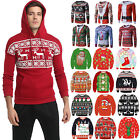 Women Men Unisex Christmas Ugly Jumper Pullover Xmas Funny Hooded Sweater Tops