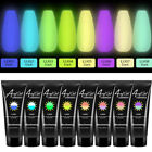 8 Colors Glow In Dark UV Gel 15ml Poly Nail Art Luminous Nail Builder Extension