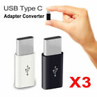 3pcs Micro Usb Female To Usb 3.1 Type C Male Adapter-charger Converter-connector