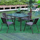 Garden Furniture Outdoor Lounge Folding Chairs Table Conservatory Patio Balcony