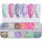 Colorful Nail Glitter Powder Sequins Laser Foils Flakes Nail Art Decoration Tips