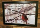 """Framed  """"When a cardinal appears visitor Heaven"""" 2 sizes wall photograph"""