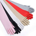 Womens Stretchy Long Sheer Gloves Mesh Arm Opera Ladies Gloves Party Costume