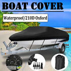 Waterproof Trailerable Boat Cover V-hull Fish Runabout 11-13/14-16 Mainre Grade