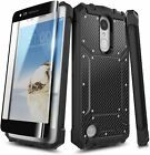 For LG Rebel 4 LTE/Aristo 2/3 Plus/Phoenix 4 Case, Phone Cover + Tempered Glass