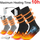 Electric Heated Socks Rechargeable Battery 4.5V Foot Winter Warm Skiing Hunting