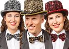 Ladies Mens Sparkly Sequin Bow Tie Circus Fancy Dress Costume Outfit Accessory