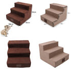 Dog Pet Stairs 3 Steps for High Bed Small Dog Non-Slip High Resilience Cotton