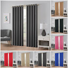 Thick Thermal Blackout Curtains Pair Of Eyelet Ring Top Ready Made Curtain Panel