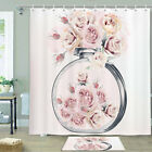 Roses And Perfume Shower Curtain Bathroom Decor Fabric 12hooks 71in