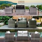 London Rattan Outdoor Furniture 4pc Setting Chairs Lounge Set Couch Wicker Sofa