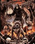 Hades Dark Skull Death And Hound Dogs Painting Artwork Paint By Numbers Kit DIY
